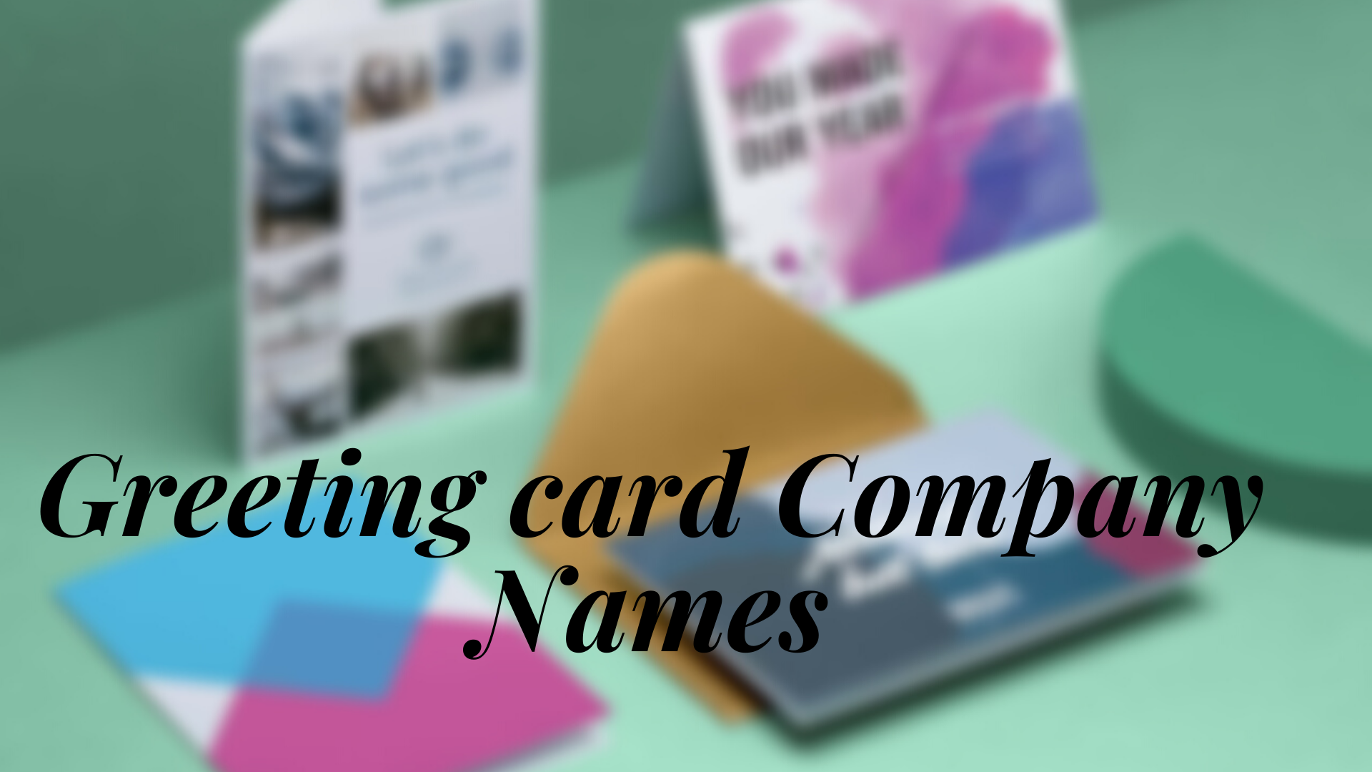 Greeting card Company Names